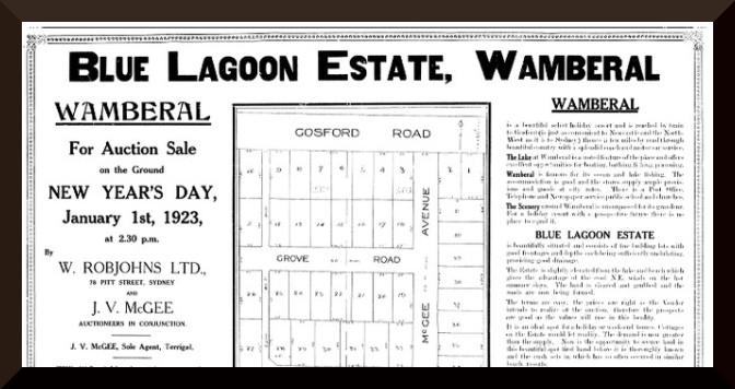 Image of 1923 real estate plan