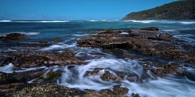 Image of rock pools at Bateau Bay