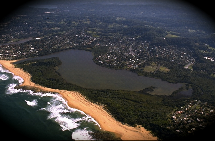Aerial view of Wamberal Lagoon