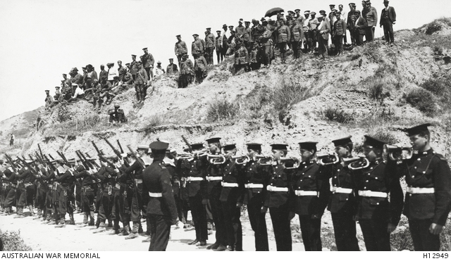 Gallipoli, Turkey. 25 April 1923. Buglers sounding the last post