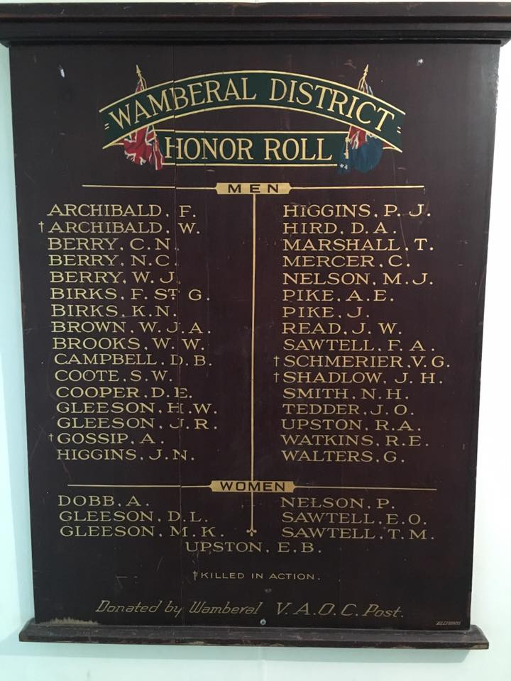 Wamberal District Honour Roll