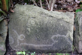 Rescued memorial stone from the Wamberal Memorial Hall