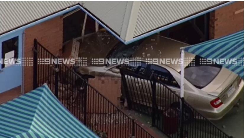 Child care centre crash one