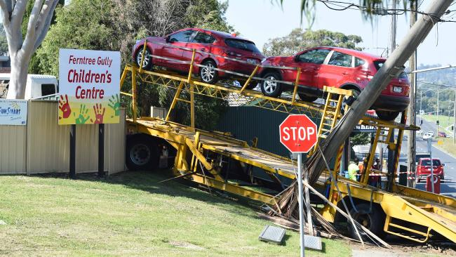 Child care truck crash
