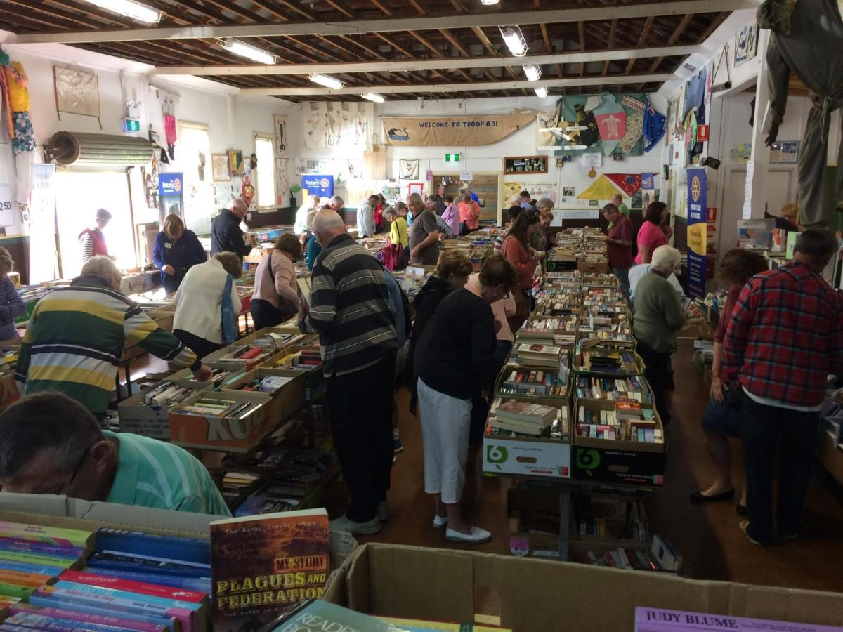 Rotary Club book sale 17 – 18 November